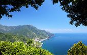 View of the Amalfi Coast of Tyrrhenian Sea (Campania, Italy)
