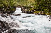 Waterfall In Northern Norway