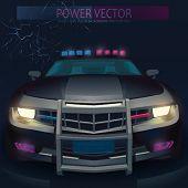 Vector Police car