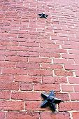 pic of paul revere  - Star bolts used to reinforce old masonry on the Old North Church in Boston - JPG
