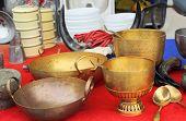 Bowl Vintage Copper Sold In The Market.