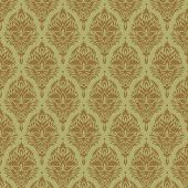 vector old wallpaper background, with seamless floral elements