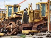 Old Scrap Bulldozer