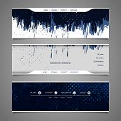 Web Design Elements - Abstract Header Design with Grunge Pattern