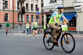 Latvia, Riga- 18 May, 2014: Competitors During The 2014 Nordea Riga Marathon. Previous Marathon On M