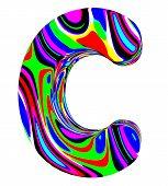Psychedelic alphabet-C