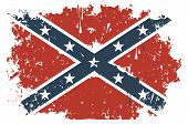 stock photo of civil war flags  - Confederate flag grunge - JPG