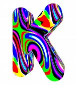 Psychedelic alphabet-K