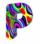 Psychedelic alphabet-P