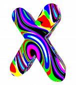 Psychedelic alphabet-X