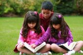 Diverse Children Reading