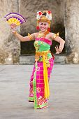 Balinese Girls Perform Legong And Barong Dance