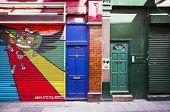 LONDON, UK - APRIL 18, 2014: Graffiti on Fashion Street, Spitalfields / Whitechapel.