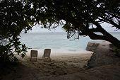 Sunbed At Tropical Beach Maldives