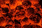 Coals Under Grill Wide