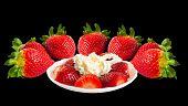Fresas y crema