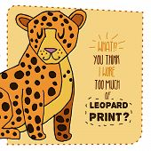 Leopard hand drawn illustration. Vector illustration.