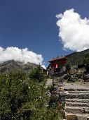 Path To Muktinath Buddhistic Temple Complex