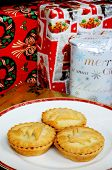 Mince pies and Christmas presents.
