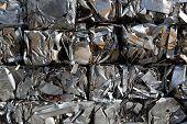 Compressed packages scrap of metal