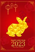stock photo of rabbit year  - A vector illustration of year of rabbit design for Chinese New Year celebration - JPG