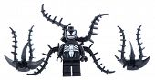 Ankara, Turkey - January 24, 2014: Lego Marvel super heroes minifigure Venom, dark side of Spiderman isolated on white background.