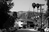 Los Angeles, CA - MAY 18: Hollywood sign on mountain on May 18, 2014 in Los Angeles. Originated as a real estate promotion, it is now the most famous landmark of LA and US.