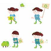 Crianças em idade escolar apoiar a reciclagem