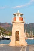 Lighthouse At Sunset In The Port Marmaris
