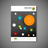 Modern Vector abstract brochure, report or flyer dark design template