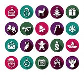 Collection of Christmas icons in flat design style.