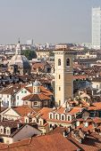 The roofs of Turin, Italy