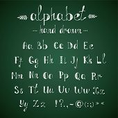 pic of punctuation  - Chalk hand drawing doodle alphabet and punctuation in vector - JPG