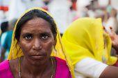 Female Pilgrim in Haridwar.