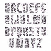 Sans Serif Decorated Font
