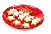 Christmas Cinnamon Star Cookies