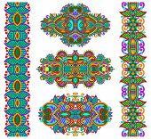 image of adornment  - ornamental decorative ethnic floral adornment - JPG