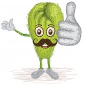 Chayote Vegetable Mustache