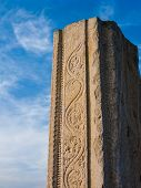 Ancient Temple Column, Melkote, India.