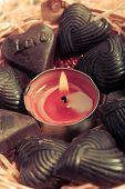 Candle Around Chocolates - Retro Style