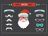 Create your own hipster Santa Christmas card