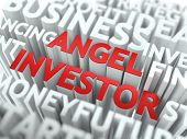 Angel Investor  - Wordcloud Concept.