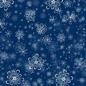 Winter Snowflake Flat Background