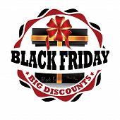 Black Friday label for print