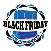 Blue Black Friday Stamp