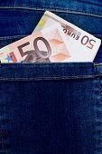 Euro In Trouser Pocket