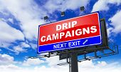 Drip Campaigns on Red Billboard.