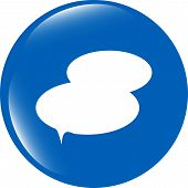 Speech Bubble Web App Button Icon