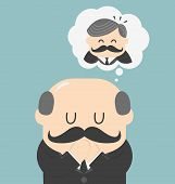 Dreams Of Bald Men Vector