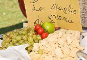 Parmesan Cheese And Grapes